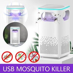 Image 1 - Led יתושים רוצח מנורת UV לילה אור Photocatalyst USB חרקים רוצח קוטל יתושים מלכודת אילם פנס דוחה מנורה