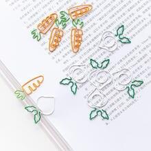 Kawaii в форме моркови бумажный зажим белая редиска Закладка