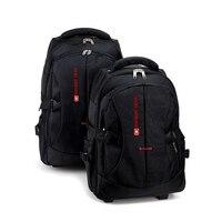 Laptop rucksack Wasserdichte Gepäck tasche Männer Reise trolley tasche business Rucksack Männer Tragen-auf Rad Roll koffer mit rädern