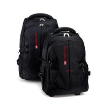 Laptop backpack Waterproof Luggage bag Men Travel trolley bag business Backpack Men Carry-on Wheel Rolling suitcase with wheels