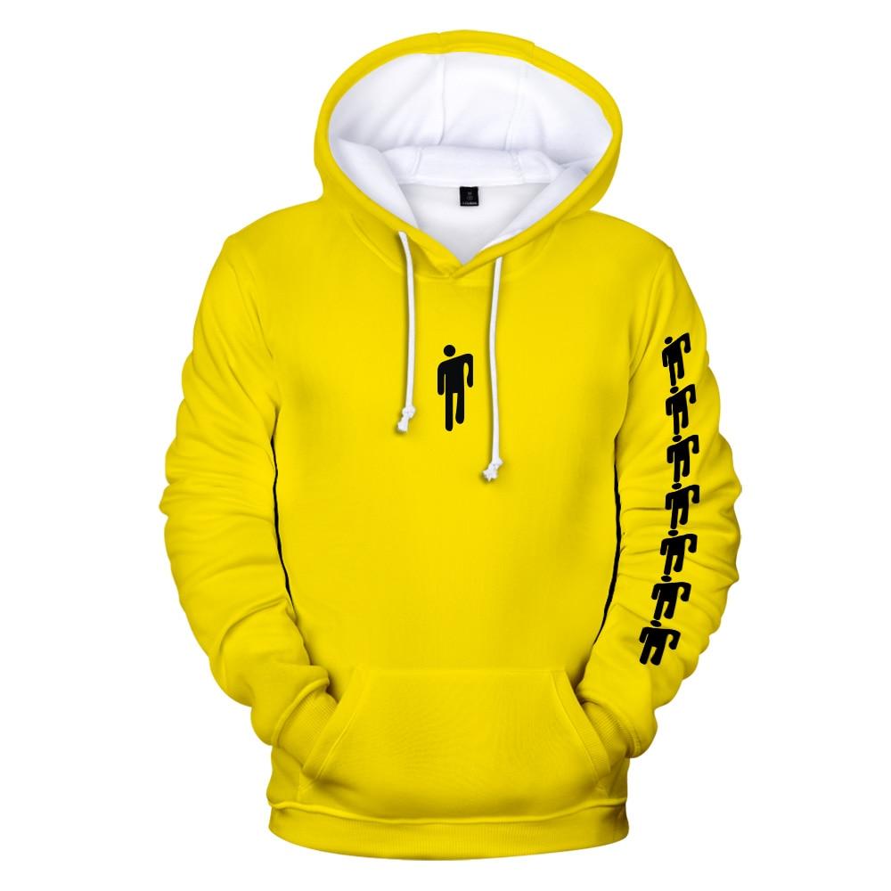 Image 4 - Funny Billie Eilish Harajuku NEON GREEN 3D Hoodies sweatshirt Men/Women spring Casual Hip hop Harajuku Hooded Sweatshirt Clothes-in Hoodies & Sweatshirts from Men's Clothing