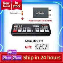 Originele Blackmagic Design Atem Mini Pro/Atem Mini Hdmi Live Stream Switcher Multi View En Opname Nieuwe Functies