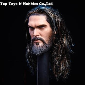 цена на 1/6 Scale 1/6 Prince of The Sea Head Sculpt Head Carved Model Toys Head For 12'' Male Figure Body Headplay Toys