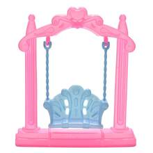 Kids Girls Toy Play House Miniature Swing Dollhouse Furniture Doll Decor Gift perfect gifts for birthday(China)