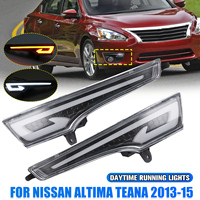 2x Led Drl for Nissan Altima Teana 2013 2014 2015 Car Front Bumper White Yellow Turn Signal Daytime Running Lights Accessories