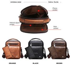 Image 4 - Celinv Koilm Männer Tasche Berühmte Designer Männer Schulter Messenger Taschen Split Leder Crossbody tasche Männer Mode Business Hohe Qualität