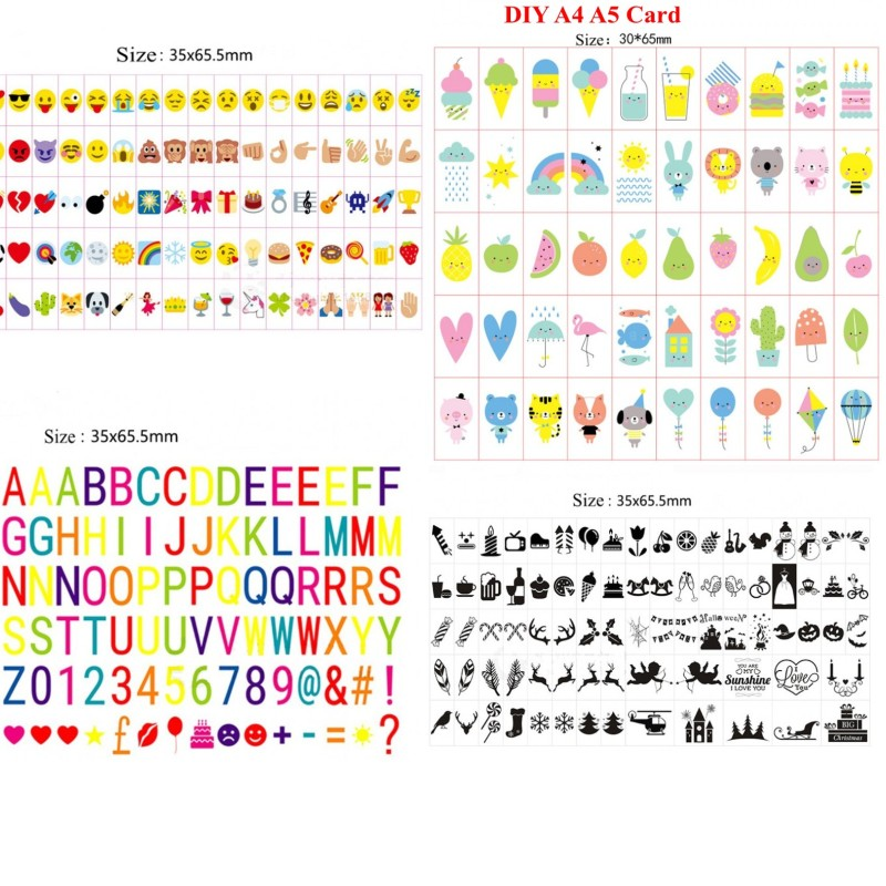 Colorful Letters Symbols & Glyphs Cards FOR A4 Size Cinema Lightbox ,Letters Pack Of LED Cinematic Light Box