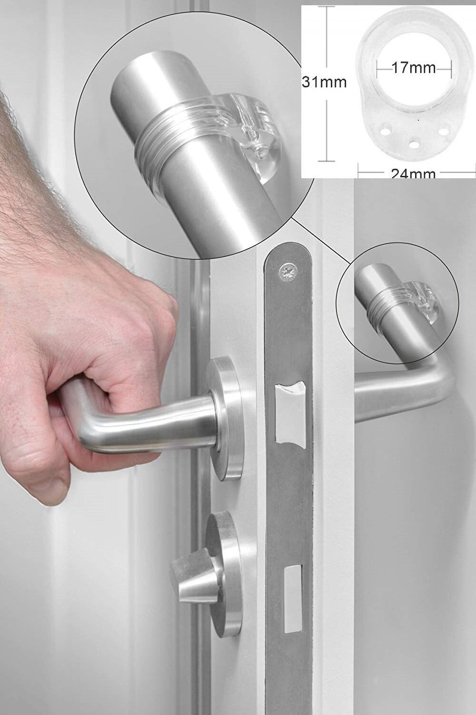 3 pièces tampon de poignée de porte Transparent/protection murale bouton de porte pour protéger les murs et les meubles/accessoires ménagers enfant pro