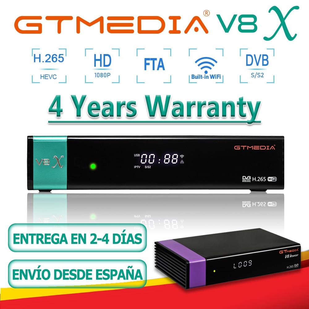 Лидер продаж, декодер GTMedia V8X/V8 Honor H.265 1080P FTA, встроенный Wi-Fi FHD DVB-S2 GTmedia V7 S2X/V8 UHD, в комплект не входит приложение