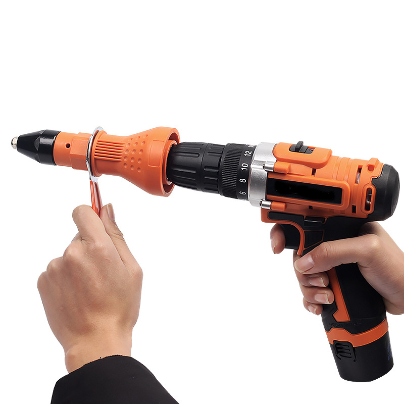 Tools Rivet Electric Nut Gun Adapter Riveting Cordless Drill Head Accessories