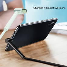 L Shape 3.0 USB holder Cable Quick Charge Data Cable Charger for Type C Phone e for Samsung Galaxy S9 Huawei Xiaomi Android аксессуар rock usb usb type c l shape metal charge