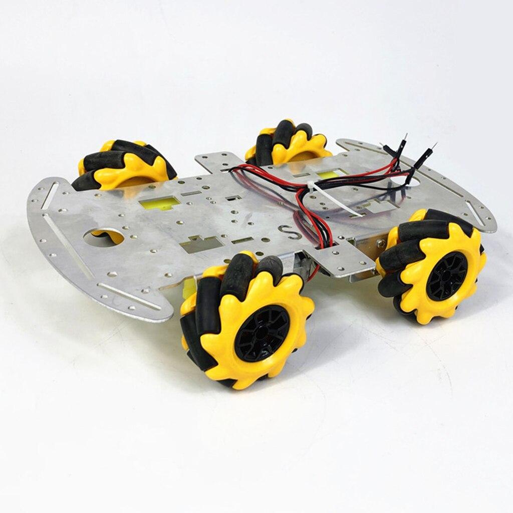 Kit de châssis de voiture de Robot de roue de Mecanum d'omni de 60mm avec le moteur de TT de roue de Mecanum de 4 pièces