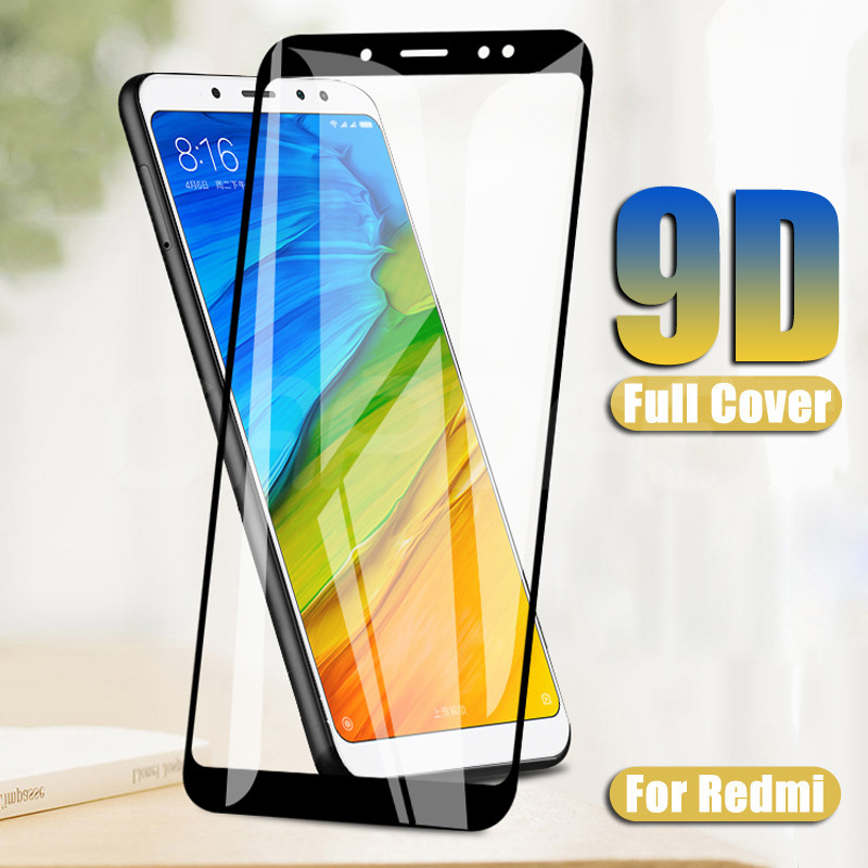 <font><b>9D</b></font> Tempered Glass on For <font><b>Xiaomi</b></font> <font><b>Redmi</b></font> 5 Plus 5A 4 <font><b>4X</b></font> 4A S2 Go K20 <font><b>Redmi</b></font> 5 5A Pro Screen Protector Safety Protective Glass Film image