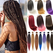 4pcs Braiding Hair Pre Stretched Wholesale 26Inch Yaki Synthetic Easy Braids for Pre Stretched Braiding Hair