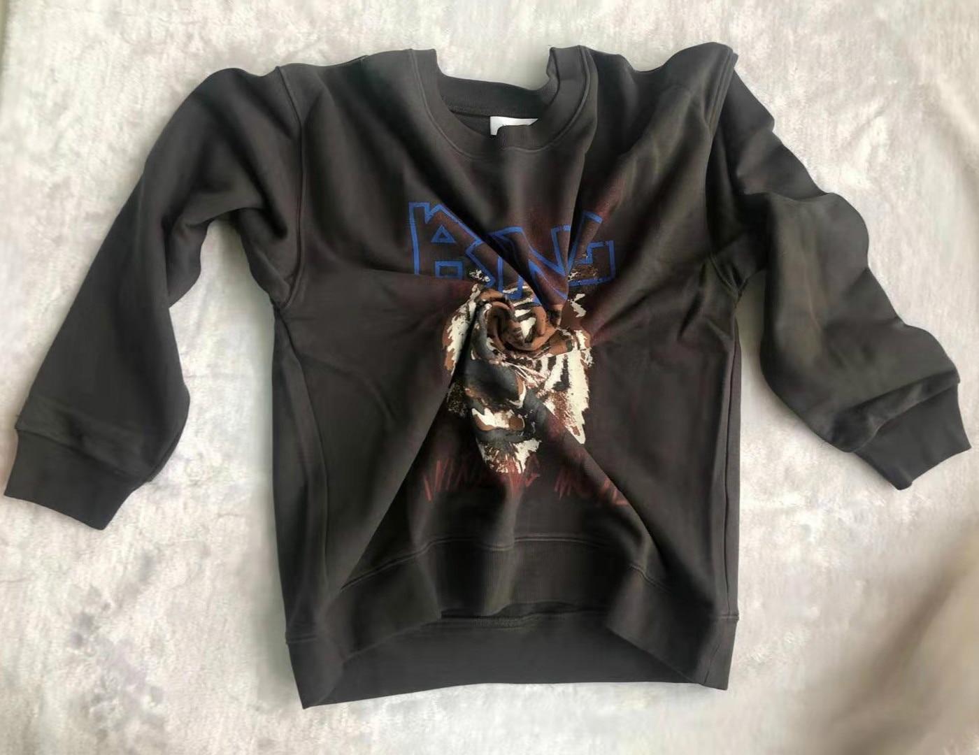 Women's Hoodie   Round Neck Pullover  Sweatshirt Tiger Head Printed Long-sleeved Sweatshirt