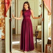 Longues robes de soirée 2020 jamais assez élégant perles une ligne plissée en mousseline de soie dentelle robe formelle robe de soirée EP07391 robe de soirée