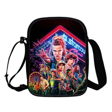 Exquisite everyday shoulder bag Stranger Things 3 beautiful children boys and girls casual handbags