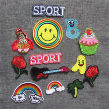 new style fashio mixture cartoon Patch Computer Embroidery Hand Sewing Ironing Sticker On Cloth Garment Hat Bag Accessories(China)