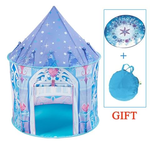 princesa de gelo tenda criancas acampamento casa dobravel tipi indoor ao ar livre brinquedo tenda