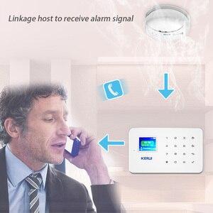 Image 2 - Kerui Detector de humo inalámbrico con conexión, Sensor fotoeléctrico sensible para seguridad para hogar, sistema de alarma
