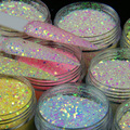Holographic Laser UV Color Changing Glitter Nail Polish Glitter Powder Sequin Acrylic Paint Powder Decorative Nail Accessories