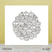 AZSG Delicious dessert Clear Stamps For DIY Scrapbooking/Card Making/Album Decorative Rubber Stamp Crafts