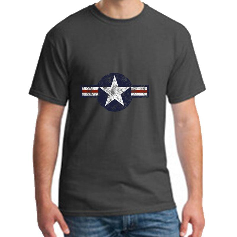 Print <font><b>Usaf</b></font> Roundel Weathered tee <font><b>shirt</b></font> s-5xl Short-Sleeve Anti-Wrinkle Kawaii mens t-<font><b>shirts</b></font> round Neck hip hop image