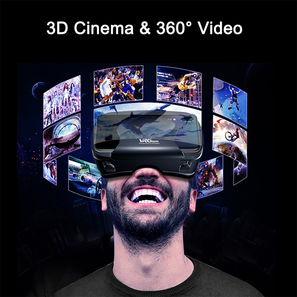 ETVR 3D Movies Games Glasses VR Box Google Cardboard Immersive Virtual Reality Headset with Controller Fit 5-7 inch Smart phone 5