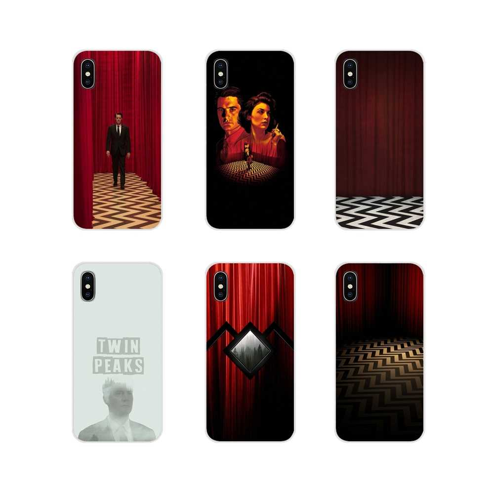 Twin peaks acessórios do cartaz capas de telefone para apple iphone x xr xs 11pro max 4S 5S 5c se 6 s 7 8 plus ipod touch 5 6
