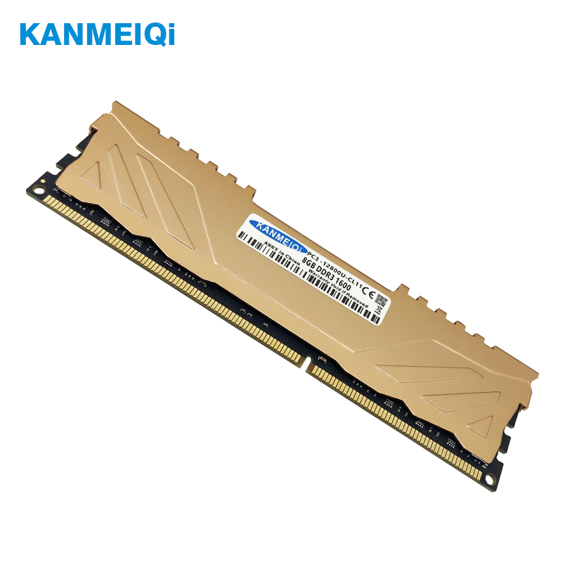 Kanmeiqi Desktop-Memory Heat-Sink 1866mhz Ram Ddr3 Black 1333mhz-1600 Dimm Pc3 8GB 4GB
