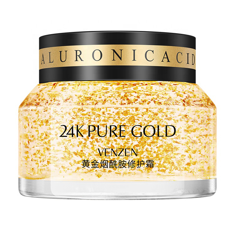 VENZEN 24k Gold Face Cream Anti Aging Skin Repair Moisturizing Wrinkle Skin Care Korean Cosmetics 50g
