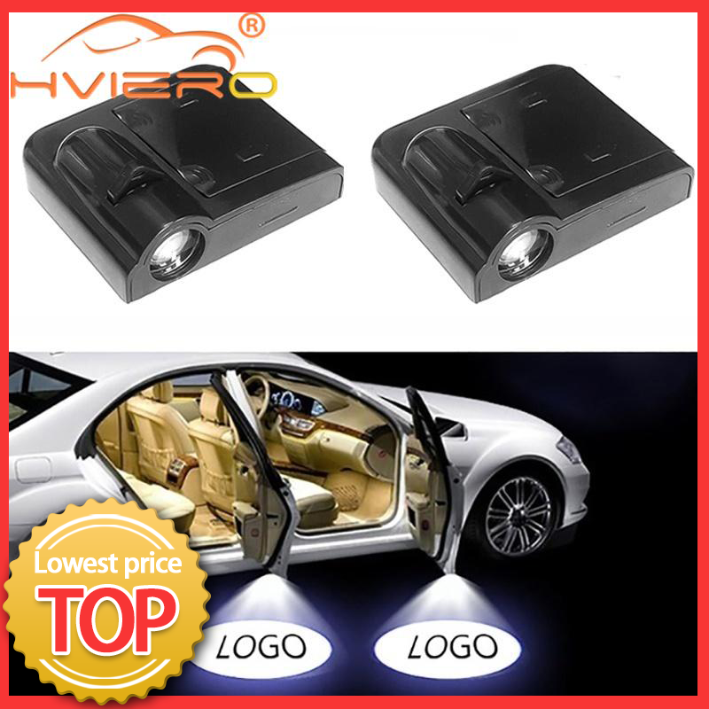 2pcs Shadow Lamp Projector Light Car Led Wireless Door Logo Light Welcome Decor Lamp Laser Atmosphere Car Light Car Accessories