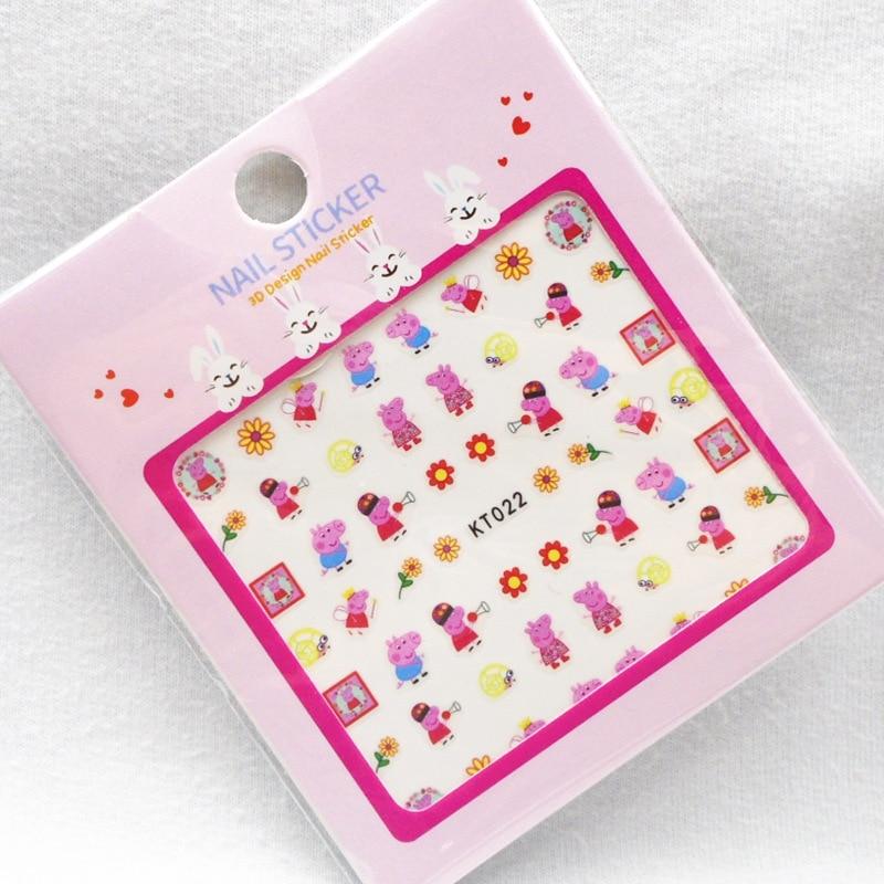 KT021-030 CHILDREN'S Cartoon Nail Sticker 3D Manicure Stickers Nail Sticker Children Flower Stickers