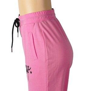 Женские повседневные штаны 2020, спортивные штаны, уличная одежда, женские брюки с вышитыми буквами и карманами, Цветные Лоскутные женские брюки для бега