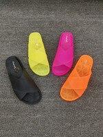 SWONCO/прозрачная обувь; шлепанцы без задника; женские летние шлепанцы; неоновые шлепанцы для женщин; коллекция 2019 года; пластиковые шлепанцы; ...