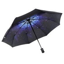 Rain Ge Automatic Umbrella Anti-UV Sun Windproof Teflon Folding Compact