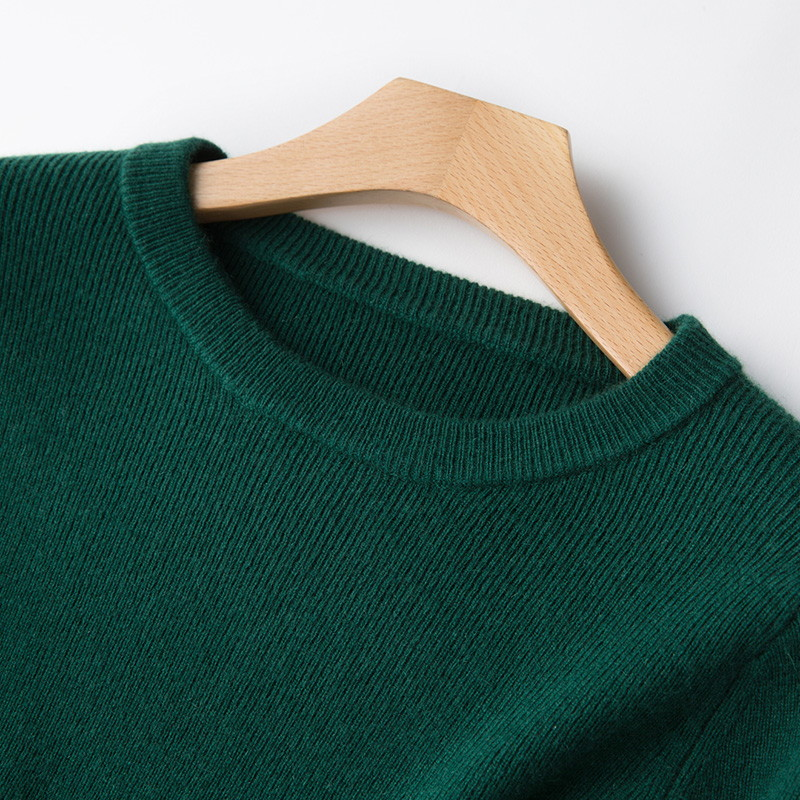 Image 4 - 2 Pieces Sets 100 Cashmere Women O neck Pullover and Skirt Sets Knit Solid Slit Skirt 2019 Winter Sweater Soft Knitwear Sweaters-in Women's Sets from Women's Clothing