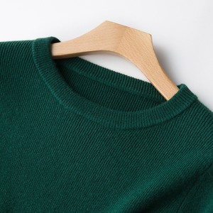 Image 4 - 2 Pieces Sets 100 Cashmere Women O neck Pullover and Skirt Sets Knit Solid Slit Skirt 2019 Winter Sweater Soft Knitwear Sweaters