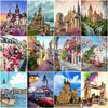 HUACAN Pictures By Number City Landscape Gift DIY Oil Painting By Number Home Decoration Drawing On Canvas HandPainted Art Gift