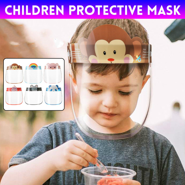 10PCS Kids Full Face Shield Mask Protective Visor Face Mask Plastic Anti Splash Anti saliva Dust-proof Full Face Cover