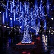 Christmas Meteor Shower Rain Tubes Led Light UK Plug