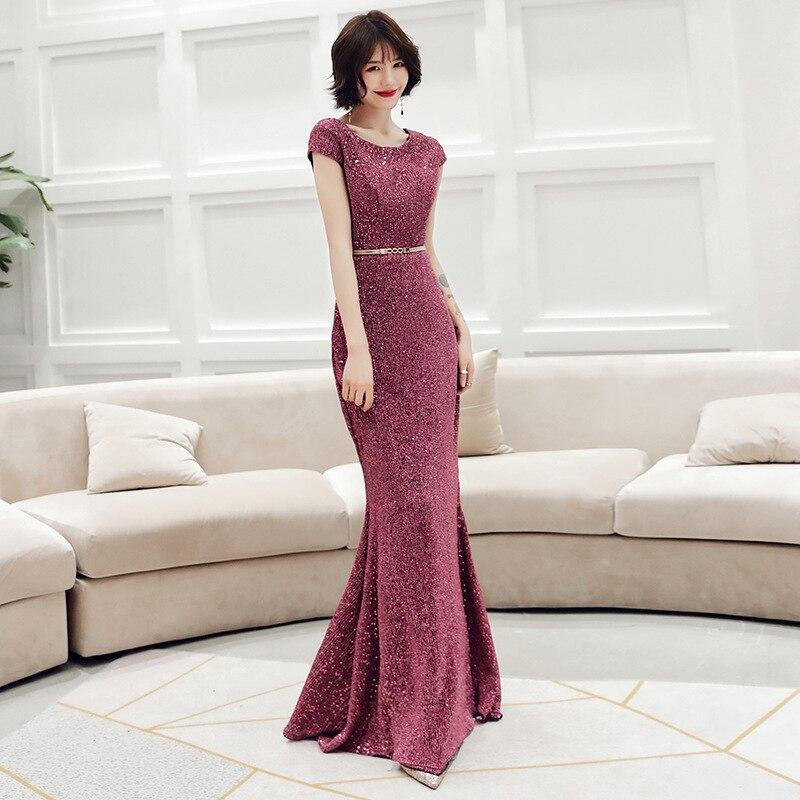 Cocktail Dress Temperament Banquet Evening Dress Female 2020 Fashion Noble Elegant Stage Fish Tail Host Celebrity
