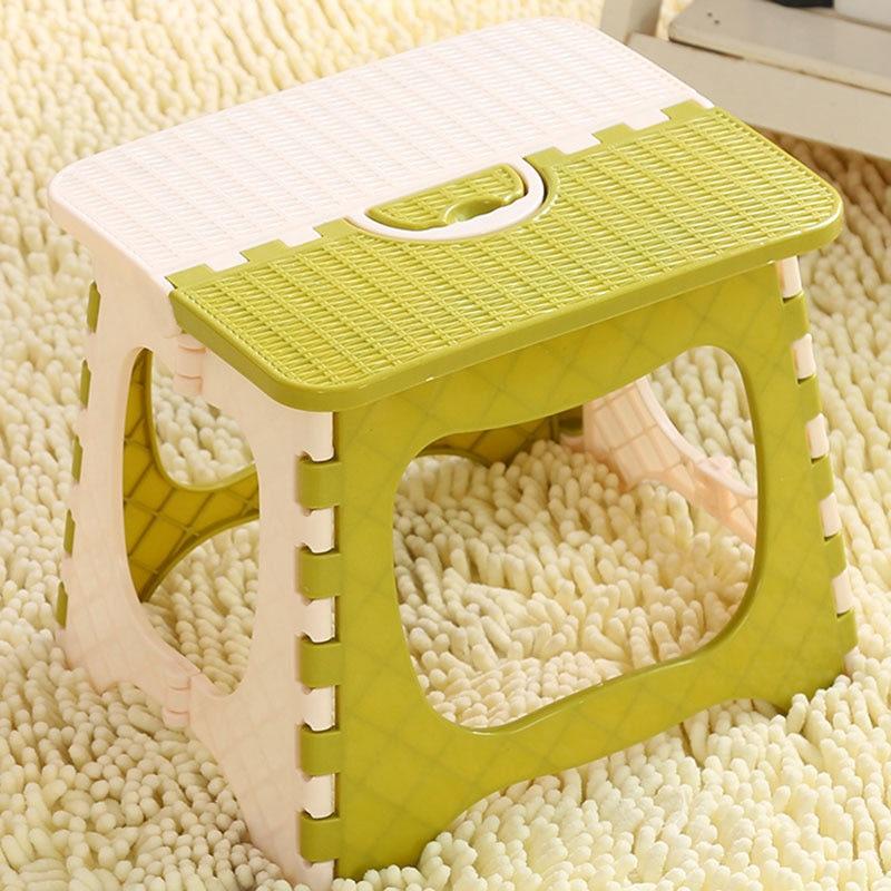 Foldable Stool Children'S Stool Light Portable Train Stool Thickened Plastic Folding Stool Adult Low Stool Bench