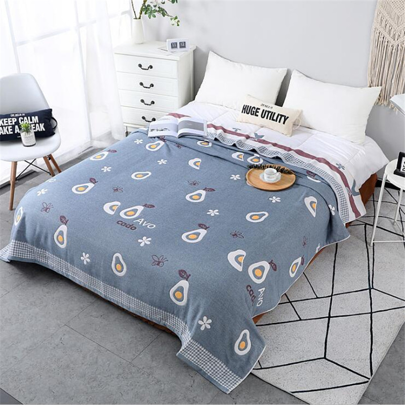 150*200CM 200*230cm Home Textile Cotton Five-layer AB Gauze Blanket Summer Cool Air Conditioning Quilt Towel Child Adult Blanket