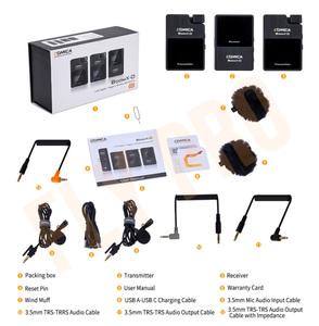 Image 4 - Comica boomx d d2 microfone kit transmissor sem fio mini celular microfon receptor digital 2.4g condensador microfone estéreo vs microfone