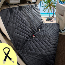 Dog Carrier Dog Car Seat Cover Waterproof Car Rear Back Mat Pet Travel Cat Dogs Cushion Protector With Middle Seat Armrest footprints pattern dog carrier waterproof rear back dogs car seat cushion for outdoor dogs cats car seat mat pet products