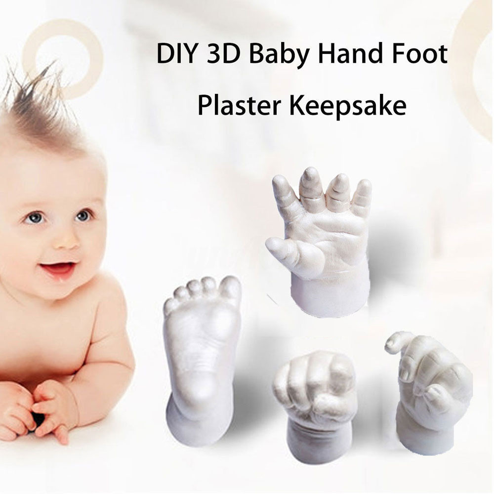 Novelty 3D Plaster Handprint Footprint Baby Mould Party Supplies Home DIY Gift Decoracion Hand Footprint Makers Baby Souvenirs X