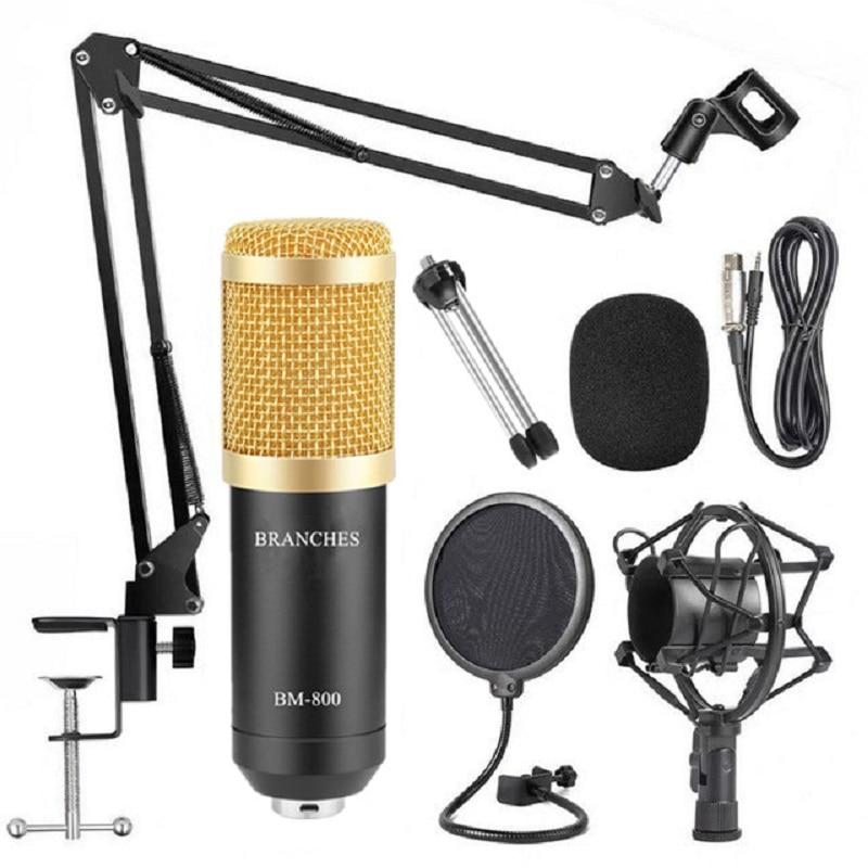 BM 800 Microphone Professional Condenser Microphone BM800 Microphone For Computer Recording Podcast TikTok Gaming DJ BM 800 MIC