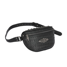 цены на small breast bag for men and women, one shoulder bag, Korean version of ghost head and skull pattern, waist bag and breast bag  в интернет-магазинах