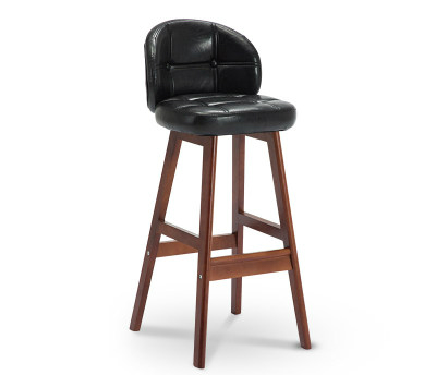 M8 Bar Chair Modern Minimalist Solid Wood  Stool   High  Creative   Nordic Home